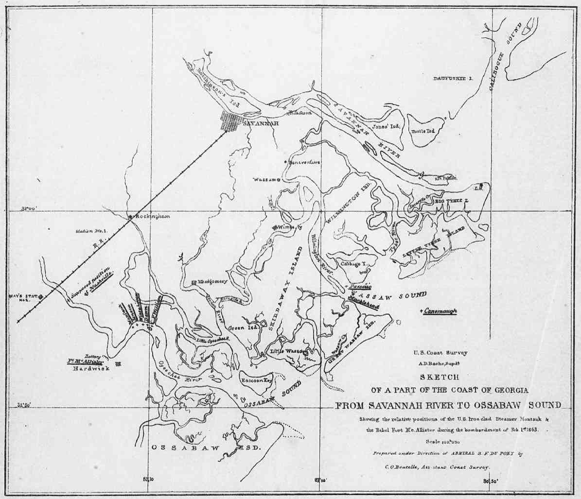 The Civil War In Georgia - Map of dallas georgia
